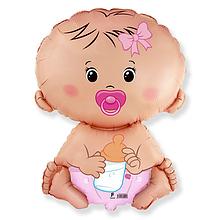 Фольгована кулька велика фігура Немовля дівчинка  67х46см Flexmetal