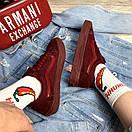 Мужские кеды Vans Old Skool, бордовые, фото 5