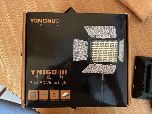 Постоянный LED свет Yongnuo YN160III (3200-5500К) живое фото