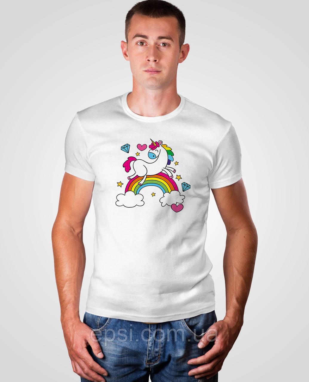 Футболка мужская с принтом Malta 18М063-17-Р Rainbow 1 XL Белая (2901000179896)