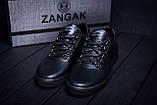 Мужские кожаные кеды ZG Aircross  Black, фото 7