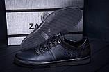 Мужские кожаные кеды ZG Aircross  Black, фото 9