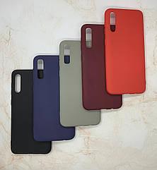 Чехол силиконовый для Samsung A50 2019 (A505F) матовый цветной