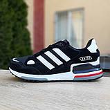 Мужские кроссовки Adidas zx 750 черные, фото 3