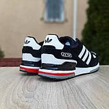 Мужские кроссовки Adidas zx 750 черные, фото 4