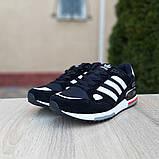 Мужские кроссовки Adidas zx 750 черные, фото 5