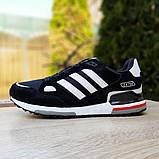 Мужские кроссовки Adidas zx 750 черные, фото 6