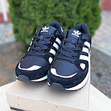 Мужские кроссовки Adidas zx 750 черные, фото 7