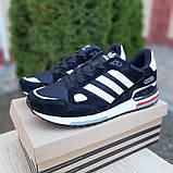 Мужские кроссовки Adidas zx 750 черные, фото 9