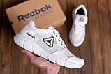 Чоловічі шкіряні літні кросівки, перфорація Reebok Classic White ., фото 7
