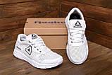 Чоловічі шкіряні літні кросівки, перфорація Reebok Classic White ., фото 8