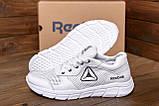 Чоловічі шкіряні літні кросівки, перфорація Reebok Classic White ., фото 9
