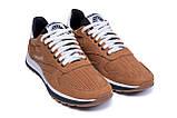 Чоловічі шкіряні літні кросівки, перфорація Reebok Classic Brown, фото 3