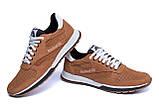 Чоловічі шкіряні літні кросівки, перфорація Reebok Classic Brown, фото 4