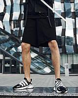 """Модні чоловічі бавовняні штани """"Крипто"""" чорні з ієрогліфами"""
