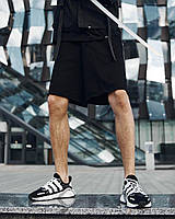"""Модные мужские хлопковые штаны """"Крипто"""" черные с иероглифами"""