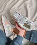 Женские кроссовки Nike  Jordan 1 Retro Low Beige/Pink, фото 2