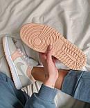 Жіночі кросівки Nike Jordan 1 Retro Low Beige/Pink, фото 4