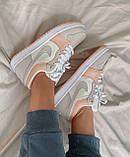 Женские кроссовки Nike  Jordan 1 Retro Low Beige/Pink, фото 6