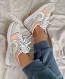 Женские кроссовки Nike  Jordan 1 Retro Low Beige/Pink, фото 7