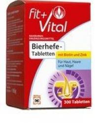 Fit Vital Bierhefe Tabletten Mit Biotin Und Zink Fur Haar Haut Und