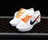 Жіночі кросівки Nike FLYKNIT RACER FOAM x Off White білі, фото 2