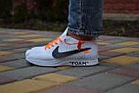 Жіночі кросівки Nike FLYKNIT RACER FOAM x Off White білі, фото 3