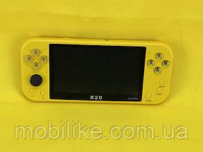 Портативна приставка X20/Жовтий (з можливістю подлюченія 2х геймпадів)