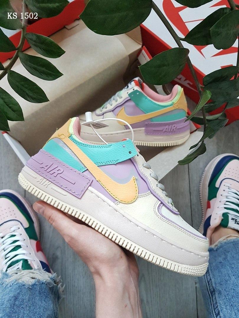 Жіночі кросівки Nike Air Force 1 low (фіолетово/білі)