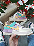 Жіночі кросівки Nike Air Force 1 low (фіолетово/білі), фото 2