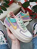 Жіночі кросівки Nike Air Force 1 low (фіолетово/білі), фото 4