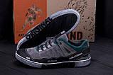 Мужские кожаные кроссовки Salomon Grey and Green Trend, фото 7