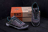 Мужские кожаные кроссовки Salomon Grey and Green Trend, фото 9