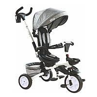 Детский трехколесный велосипед коляска TILLY FLIP T-390 с родительской ручкой