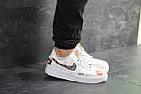 Чоловічі кросівки Nike Air Force 1 Just Do It білі з чорним, фото 2