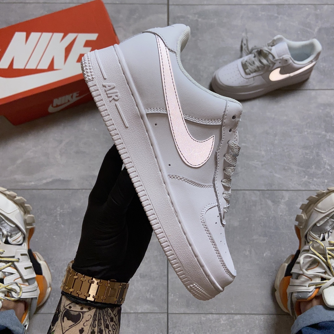 Женские кроссовки Nike Air Force 1 Low White REFLECTIVE.