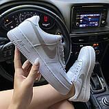 Женские кроссовки Nike Air Force 1 Low White REFLECTIVE., фото 6