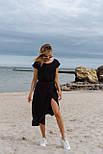 Літнє плаття жіноче повсякденне з поясом, фото 6