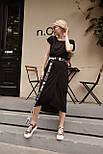 Літнє плаття жіноче повсякденне з поясом, фото 5