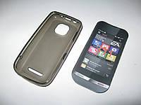 Чехол силиконовый Nokia Asha 311 серый