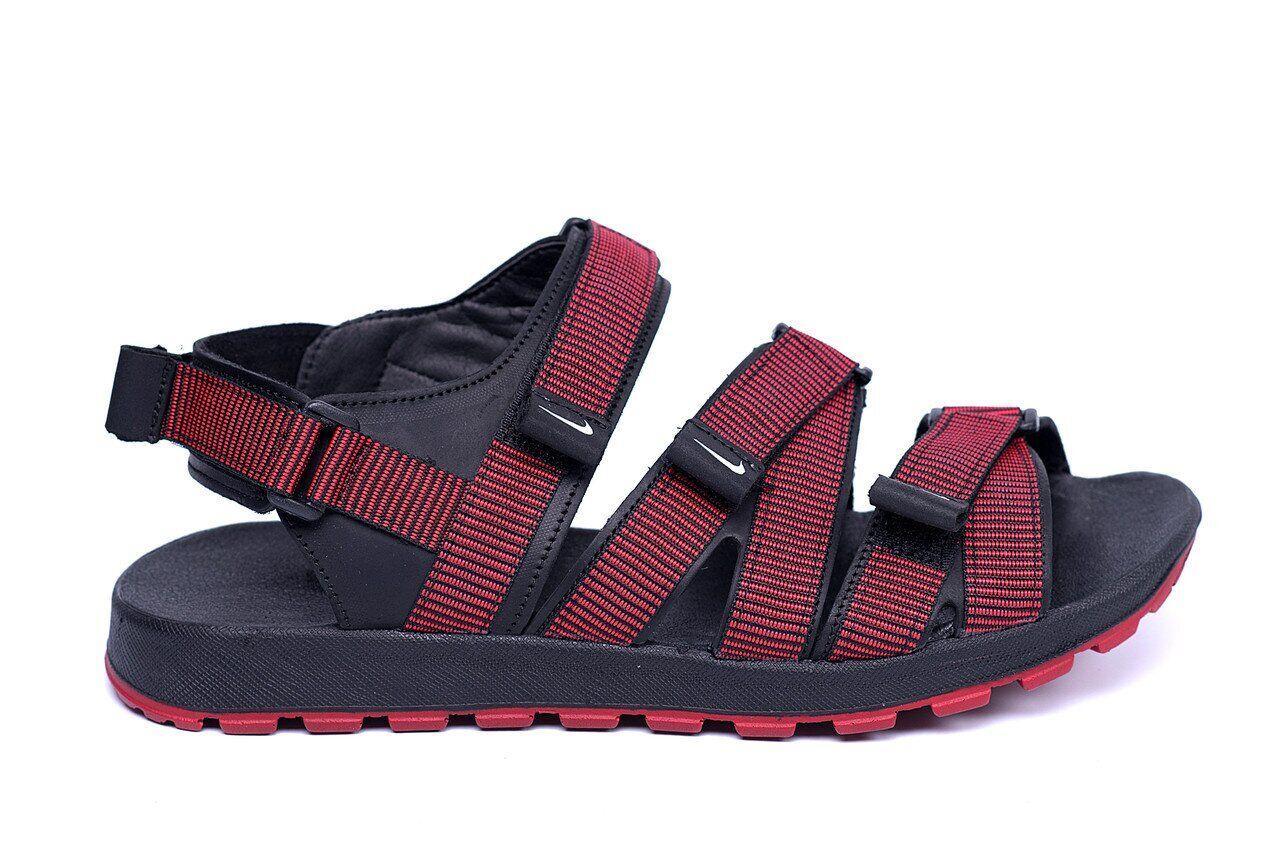 Мужские кожаные сандалии Nike Summer life Red .