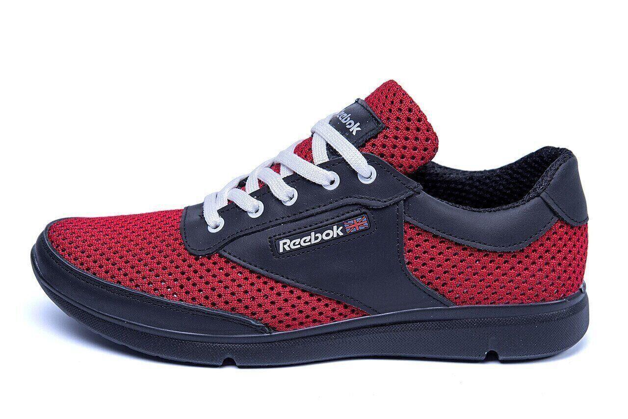 Мужские летние кроссовки сетка Reebok Red Style.