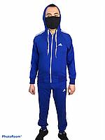 Спортивный костюм адидас,adidas ,три полосы, классика.Костюм трикотажный мужской синий адидас.