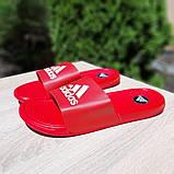 Шльопанці чоловічі Adidas червоні масажні, фото 2