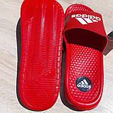 Шльопанці чоловічі Adidas червоні масажні, фото 5
