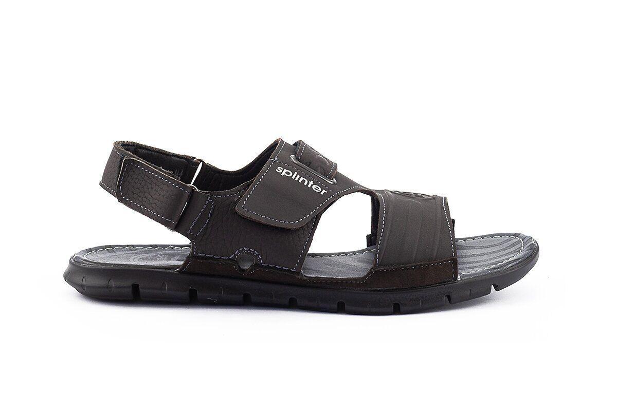 Чоловічі сандалі нубукові літні чорні Monster Biom Е-черн