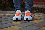Женские кроссовки  NIKE FLYKNIT RACER FOAM x Off White белые, фото 2