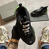Женские кроссовки  Balenciaga Triple S Clear Sole Black/Green., фото 3