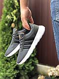 Чоловічі кросівки Adidas сірі, фото 2