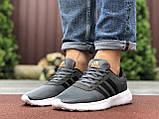 Чоловічі кросівки Adidas сірі, фото 3